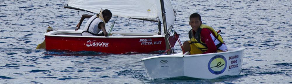 Bequia Youth Sailors regatta at Young Island